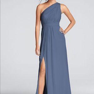 Steele blue bridesmaid dress